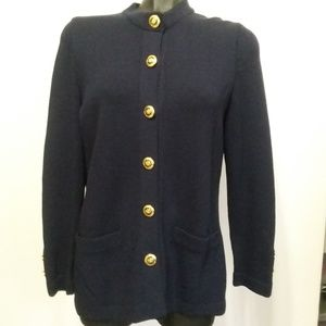 St. John Basics navy blue cardigan